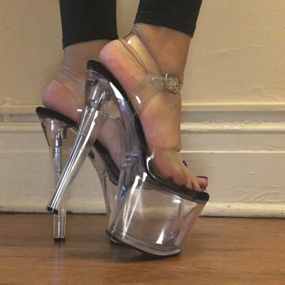 0107b368a54 Clear Pleaser Stripper Heels